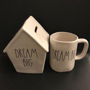 Rae Dunn Dream Big Piggy Bank & Mug